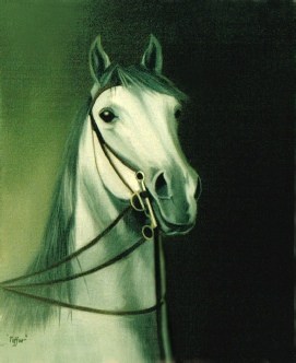 Animal Portrait of a Horse in Oils.
